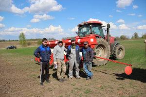 Посев демонстрационных участков кукурузы в ООО Ручейки, Владимирская область
