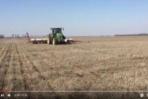 Посев семенного участка раннеспелого гибрида кукурузы Родник 179 СВ на поле №6.